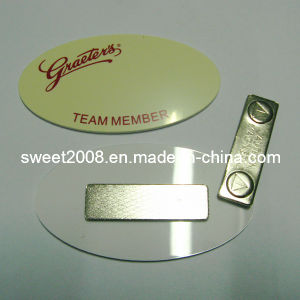 Oval Magnetic Plastic Badge with Customer Logo pictures & photos