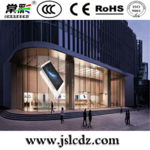 Customized P7.8*7.8 Indoor Transparent Glass LED Display for Advertising