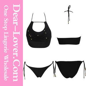 Sexy Secret Beaded Halter Top and Panty Bikini Swimwear pictures & photos
