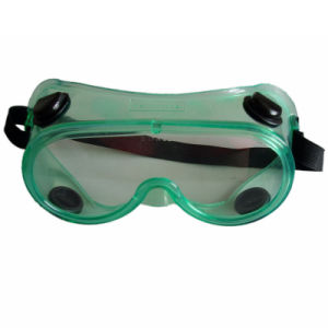 Green Transparent PC Wrok Safety Goggles with Air Hole (JMC-398L) pictures & photos