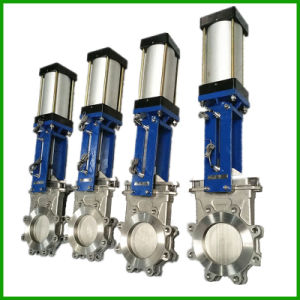 Full Lug Knife Gate Valve-Pneumatic Actuated Knife Gate Valve pictures & photos