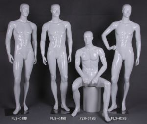Glossy White Realistic Male Forms and Male Mannequin pictures & photos