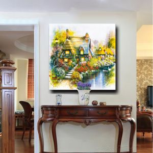 European Style Natural Scenery Flower Scenery Garden Artwork Wall Decor Canvas Oil Painting pictures & photos