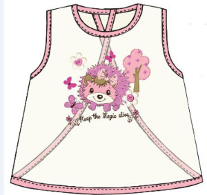 Waterproof EVA Girl′s Bib