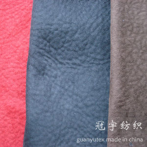 Micro Suede Home Textile Embossed Polyester Fabric for Sofa pictures & photos