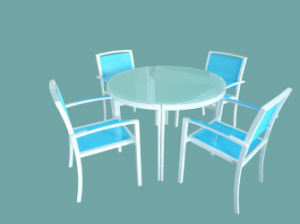Hc-T-D47 Outdoor Dining Table and Chair Set