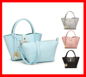 Hot New 2016 Products Ladies Handbags Set Popular Designer Tote Bags with Shoulder Bag pictures & photos