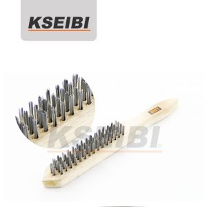 Steel Wire Hand Brushes with Wooden Handle - Kseibi pictures & photos