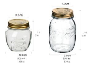 500ml Classical Type Mason Jar of Glass Bottle pictures & photos
