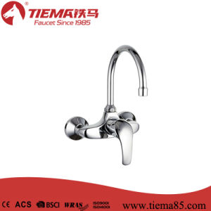 New Design Brass Body Chrome Bathroom Show Mixer (ZS62202) pictures & photos