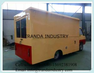 Customized Kitchen Caravan with Big Wheel Screpe Making Cart pictures & photos