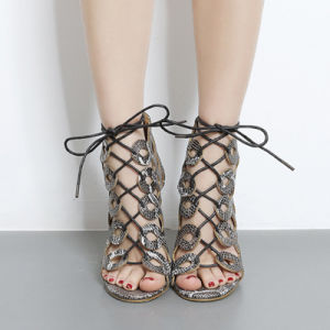 European Hot Sell Lace up Sandals Fashion High Heels (HT-S1004) pictures & photos