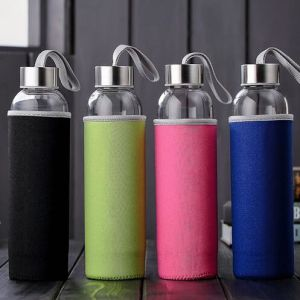 Colorful High Borosilicate 550ml Outdoor Portable Travel Water Gift Glass Cup pictures & photos