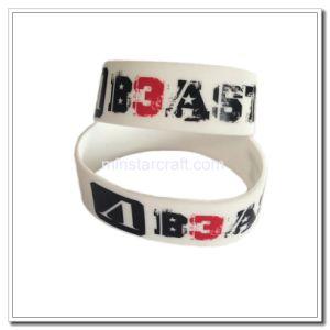 Customized Logo White Rubber Bracelet