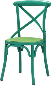 Green Color Metal X Cross Back Cafe Chair (FOH-BCC14) pictures & photos