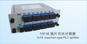 1X16PLC Splitter for FTTH Fiber Optic Distribution Box pictures & photos