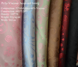 Poly-Viscose Jacquard for Garment Lining pictures & photos