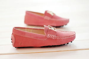 Lady′s Leather Comfort Shoes with Buckle (Pink)
