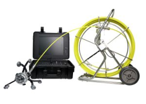 Industrial Video Drain and Pipe Inspection Camera with 60mm Pan/Tilt Camera, 120m Testing Cable
