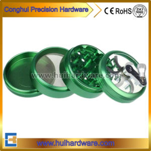 4 Piece Tobacco CNC Machining Herb Grinder Aluminum Grinder with Handle pictures & photos