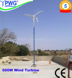 600W Wind Turbine Generator, 48V Horizontal Wind Turbines, Micro Windmill Max Output 750W pictures & photos