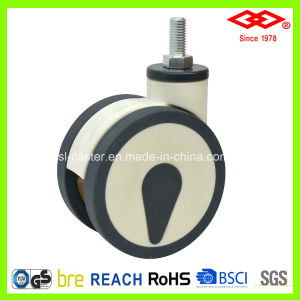 100mm Swivel Screw All Plastic Twin Wheel Caster (L530-34F100X60D) pictures & photos