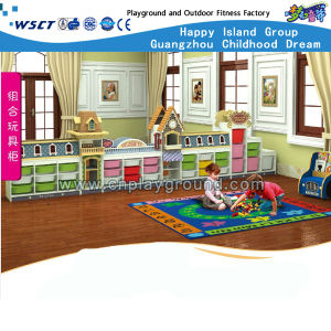 European Town Shape Children′s Toys Storage Cabinet (HB-4601) pictures & photos
