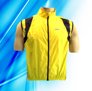 100% Polyester Man′s Sleeveless Cycling Jacket pictures & photos
