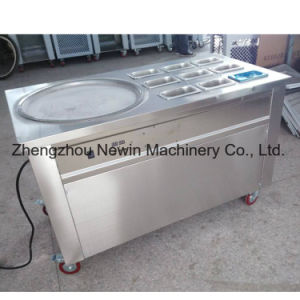 Factory Price Thailand Single Round Pan Fried Ice Cream Roll Machine pictures & photos