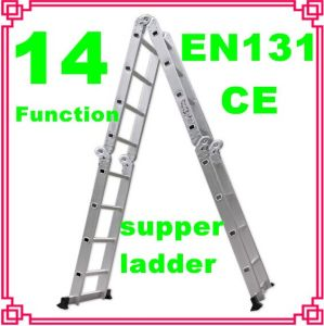 Aluminum Multi-Function Step Ladder with En131 Certificate Approval pictures & photos