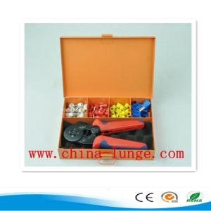 0.25-6mm2 Self Adjustable Ferrule Crimper and Bushing Terminals Kit Packed in Iron Tools Box pictures & photos