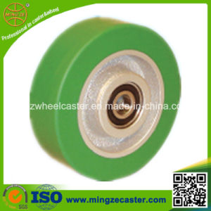 Elastic Polyuerthane Tread Cast Iron Core PU Wheel pictures & photos