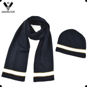 2016 Hot New Design Soft Acrylic Bottom Color Change Stripe Knitting Scarf pictures & photos