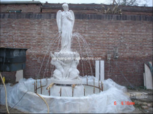 Marble Stone Fountains with Statue for Garden pictures & photos