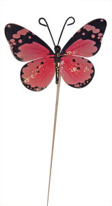 Mini Metal Btterfly Stick Garden Dcoration Home Decoration (GD-A-25)