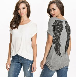2015 Fashion Casual Loose Cheap Custom Print Women T Shirt pictures & photos
