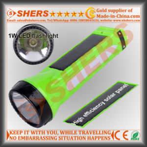 Solar 1W LED Flashlight with LED Desk Lamp (SH-1915) pictures & photos