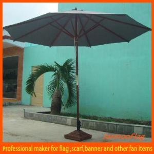 Cheap Pure Colorful Wooden Stick Garden Umbrella pictures & photos