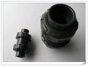 "PVC Double Union Check Valve/ Check Valve with Size Dn15 (1/2"")"