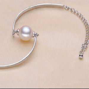 925sterling Silver Fashionable Bracelet with One Natural Pearl (E150035) pictures & photos