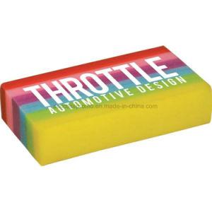 Rectangular Rainbow Coloured Eraser with Customized Logo pictures & photos
