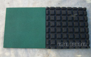 V-Groove Rubber Tile for Amusement Park pictures & photos