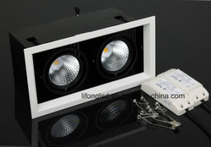 COB Square LED Grille Light Recessed LED Ceiling Grille Downlight, Two Heads LED Downlight pictures & photos