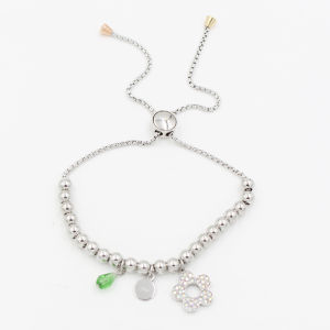 Fashion Clover Charm Bracelet with Birthday Stones Jewelry pictures & photos