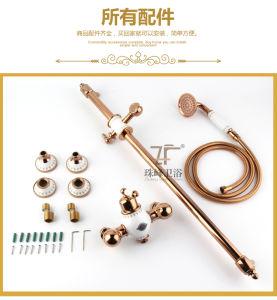 New Design Ceramic Single Handle Zf-612-1 Antique Brass Rain Shower Set pictures & photos