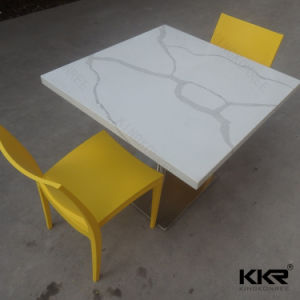 Restaurant Furniture Acrylic Stone Kfc Coffee Shop Tables and Chairs pictures & photos