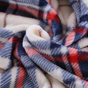 100% Polyester Proper Price Flannel Fleece Throw Blanket in China Factory pictures & photos