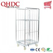 Qhdc Warehouse Logistics Equipment Roll Cage Cargo Transport Trolley