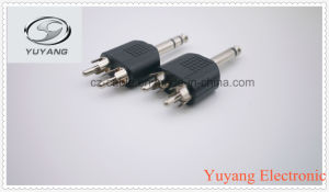 6.35mm Mono Plug to 2xrca Male Plugs pictures & photos