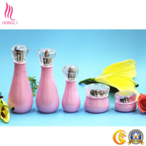 Pink Decorative Pattern Bottle with Diamond Shaped Lid pictures & photos
